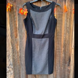 BCX Women's Sleeveless black and grey career dress